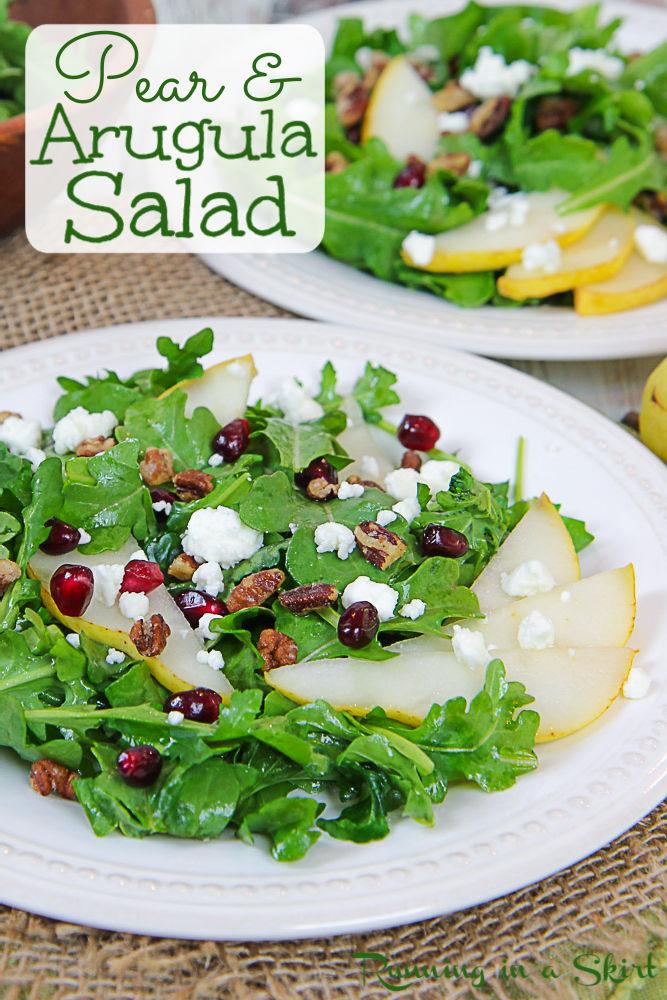 Arugula and Pear Salad pinterest pin