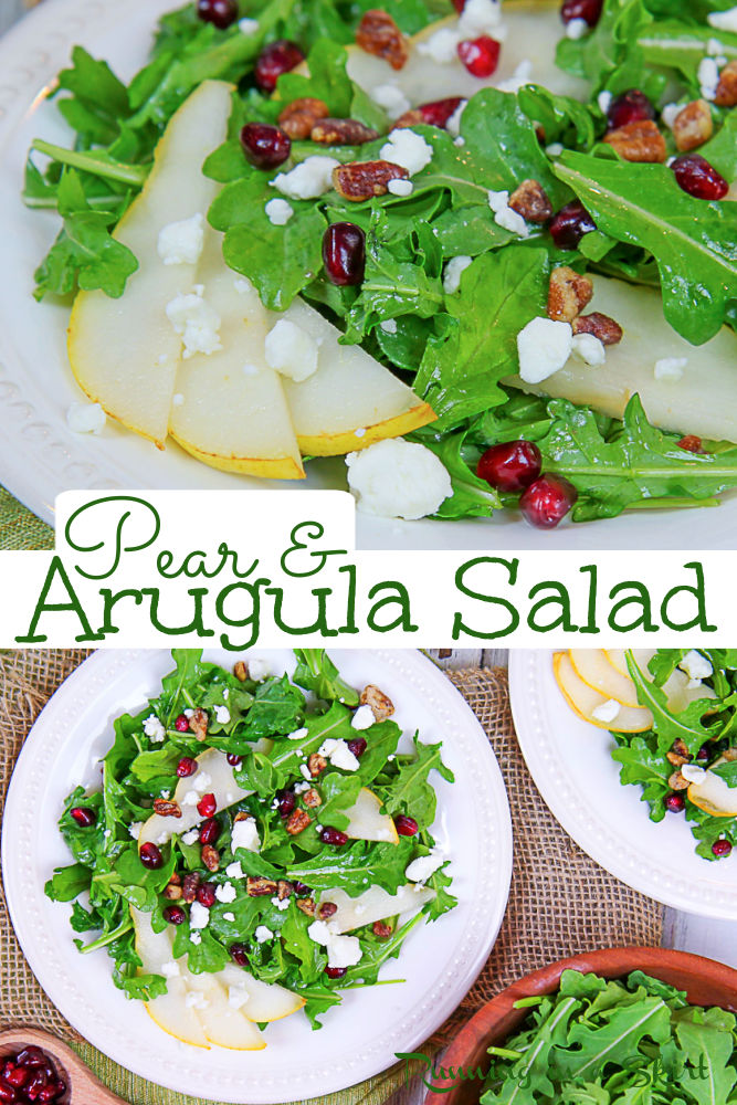 Arugula and Pear Salad via @juliewunder