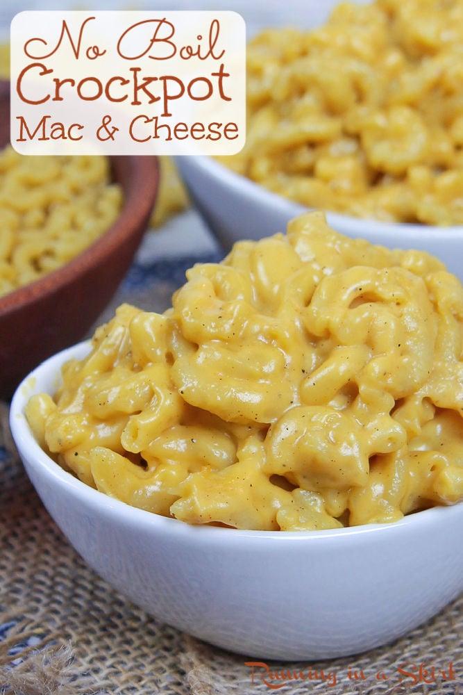 Crock Pot No Boil Mac and Cheese Pinterest Pin