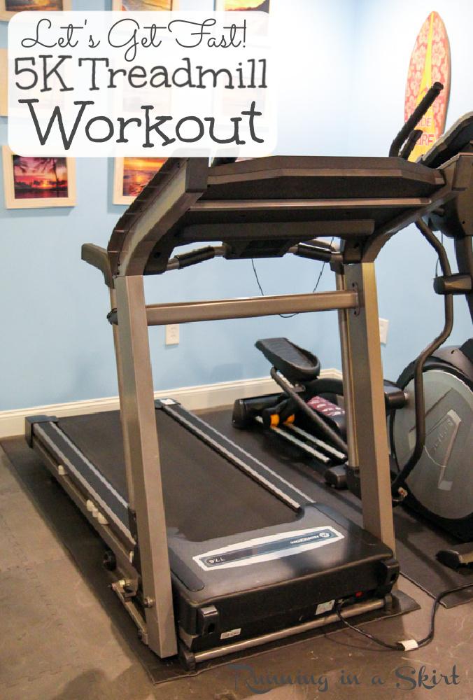 5K Treadmill Workout - Treadmill Interval Workout pin