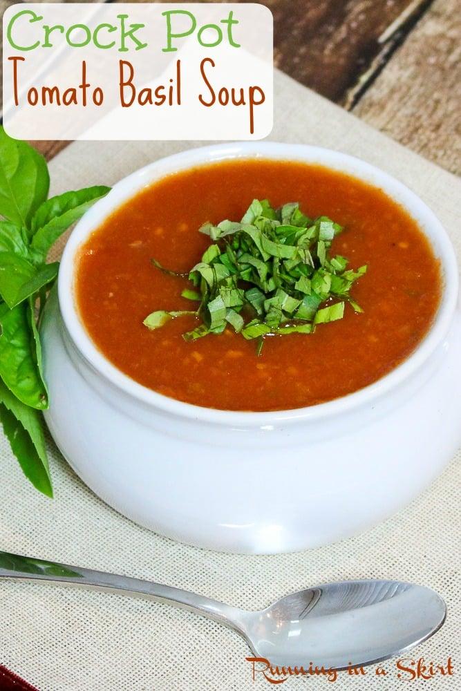 Easy Vegetarian Crock Pot Tomato Basil Soup recipe
