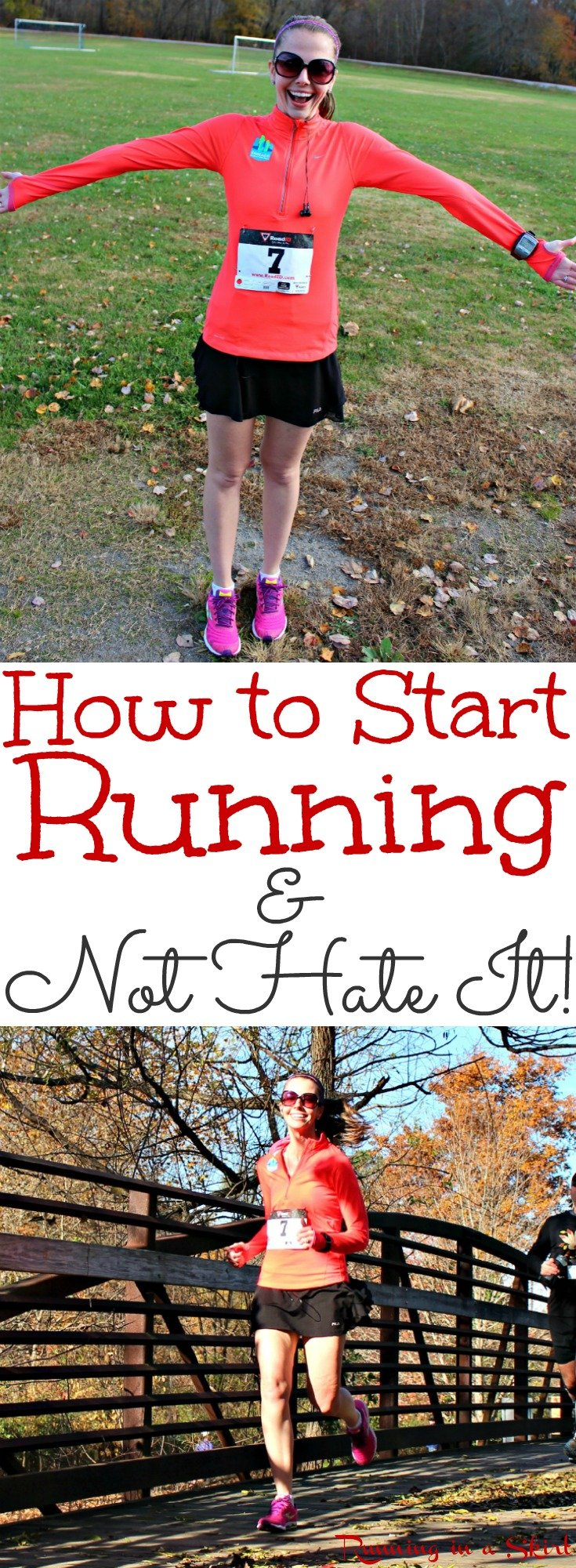 How to Start Running & NOT Hate it! Simple tips and ideas for the beginner runner to start and stay motivated. Whether you are runner for weight loss or health... this is how to finally get in shape. / Running in a Skirt via @juliewunder