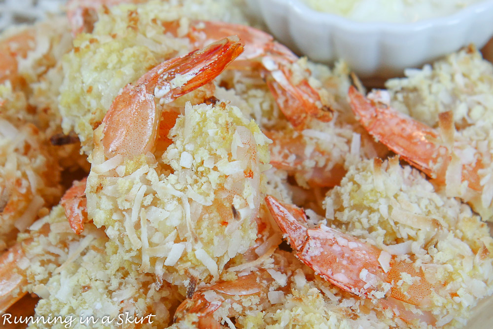 Close up of the shrimp.