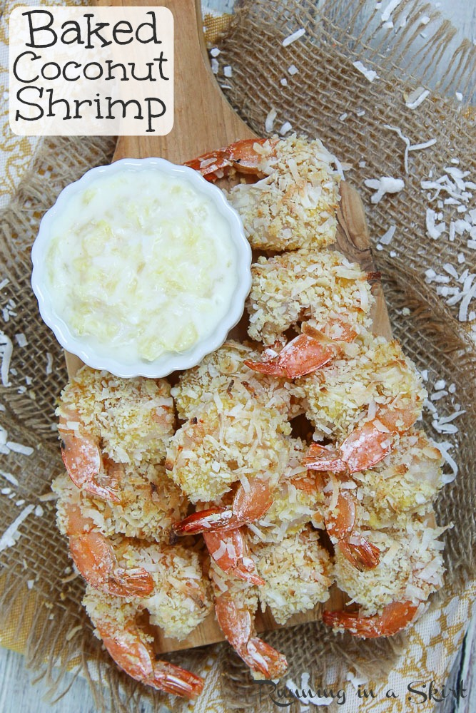 Oven Baked Coconut Shrimp and Pina Colada Dipping Sauce pinterest pin.
