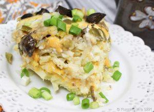 Vegetarian Crock Pot Breakfast Casserole- so yummy! Perfect for breakfast, brunch or a crowd!