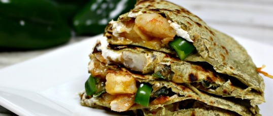Goat Cheese & Shrimp Quesadilla