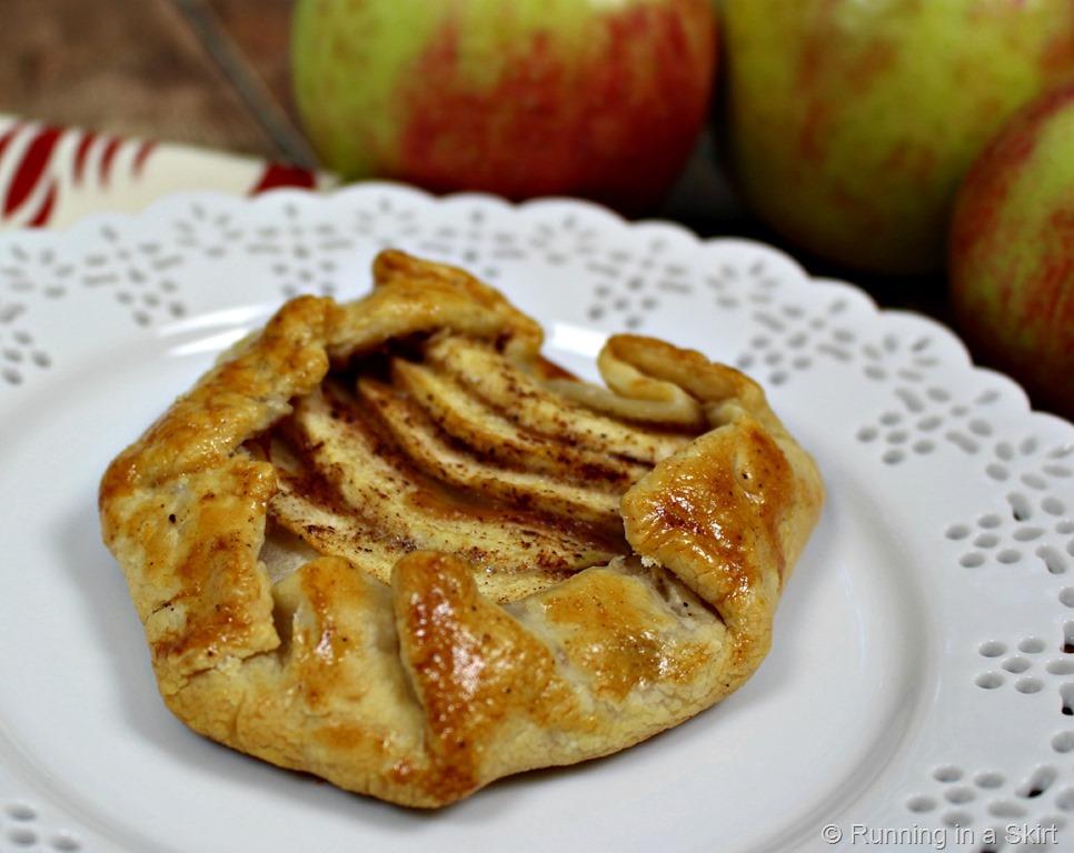 ... makes eight individual apple tart or two big rustic apple tarts