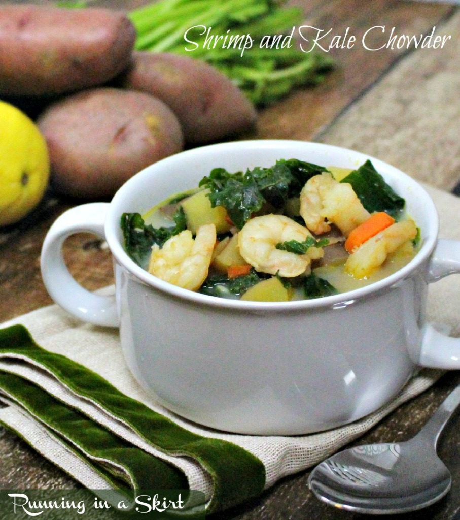Shrimp Chowder Recipe | Running in a Skirt