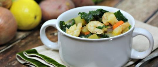 Shrimp and Kale Chowder