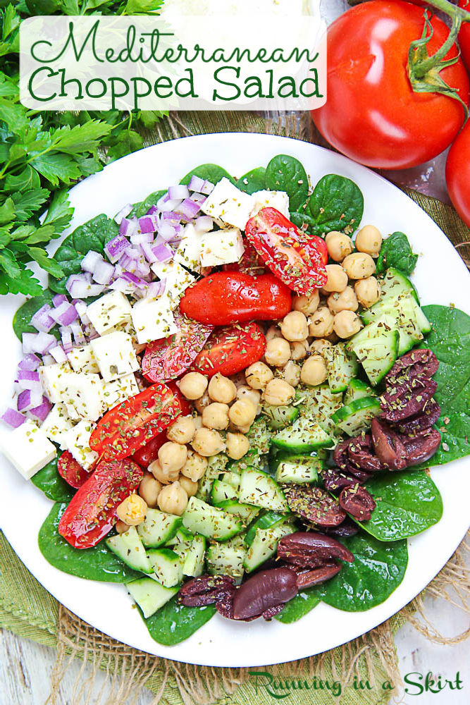 Mediterranean Chopped Salad pinterest pin