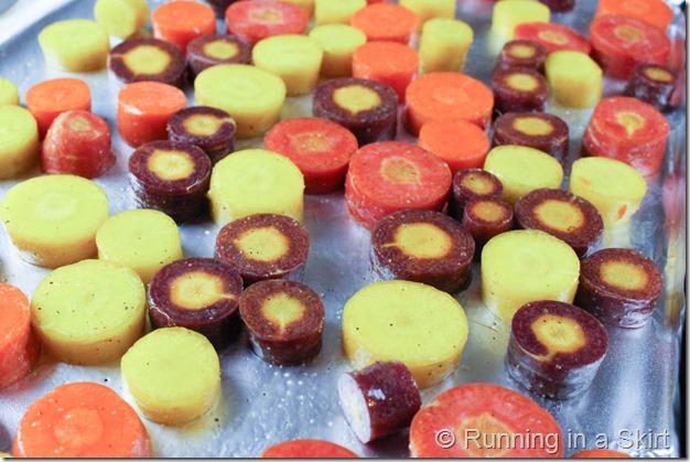 Honey Balsamic Rainbow Carrots / Running in a Skirt