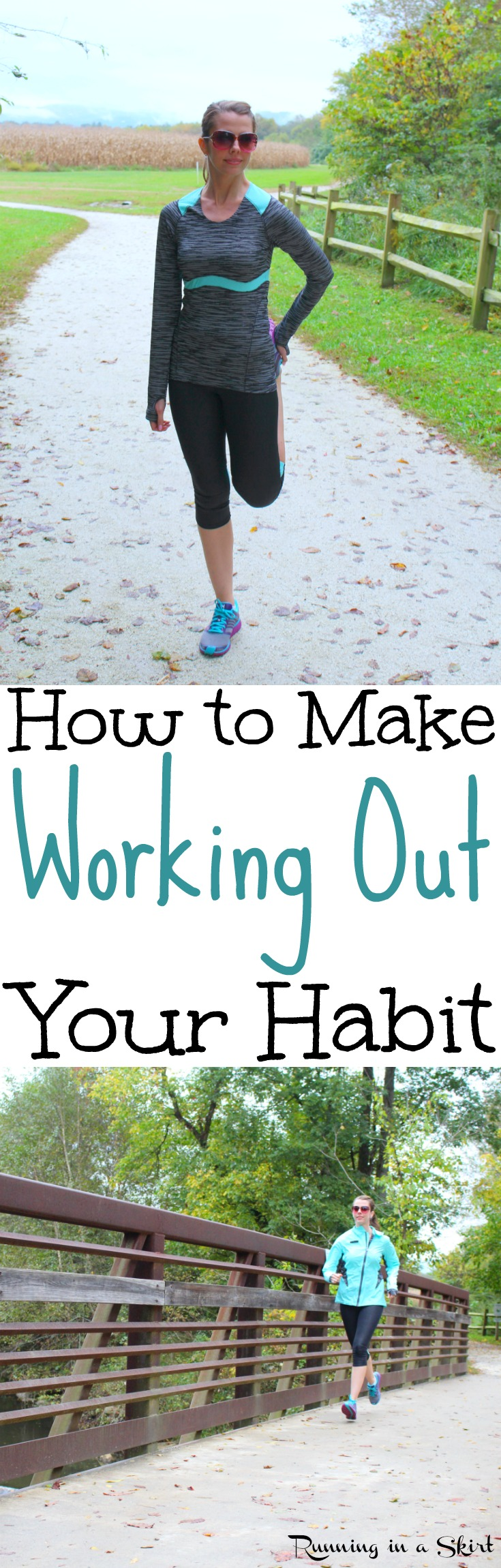How to Start Working Out.  Whether you are at the gym, at home, running or starting again these simple tips and motivation will help you establish your fitness routines. Inspiration to make sure your goal sticks. Great for after baby, losing weight or just general fitness. / Running in a Skirt via @juliewunder