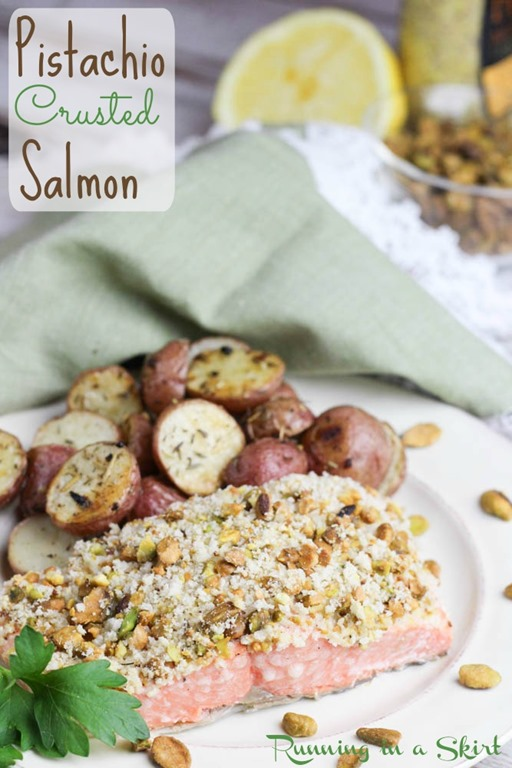 Pistachio Crusted Salmon - healthy and quick fish dinner! / Running in a Skirt