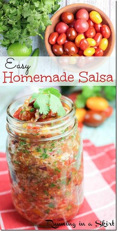 Easy Homemade Salsa / Never buy store bought again!