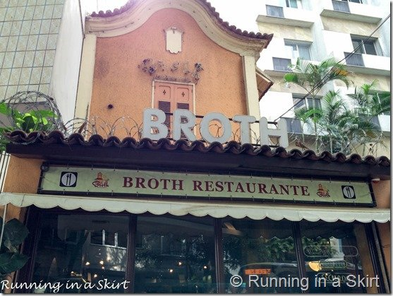 Broth Restaurant- Rio de Janeiro Travel Guide including great Rio Travel Tips!