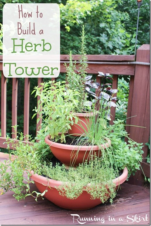 How to Build and Herb Tower Pinterest Pin