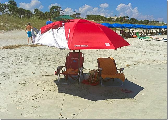 Hilton Head Island Chair and Umbrella