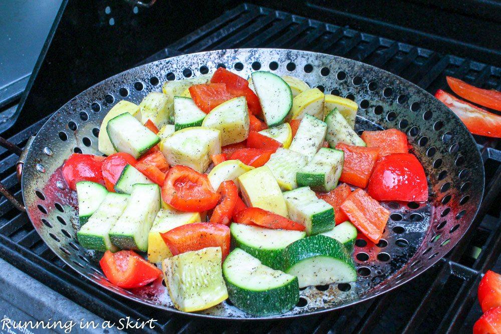 Balsamic honey grilled vegetable quinoa salad