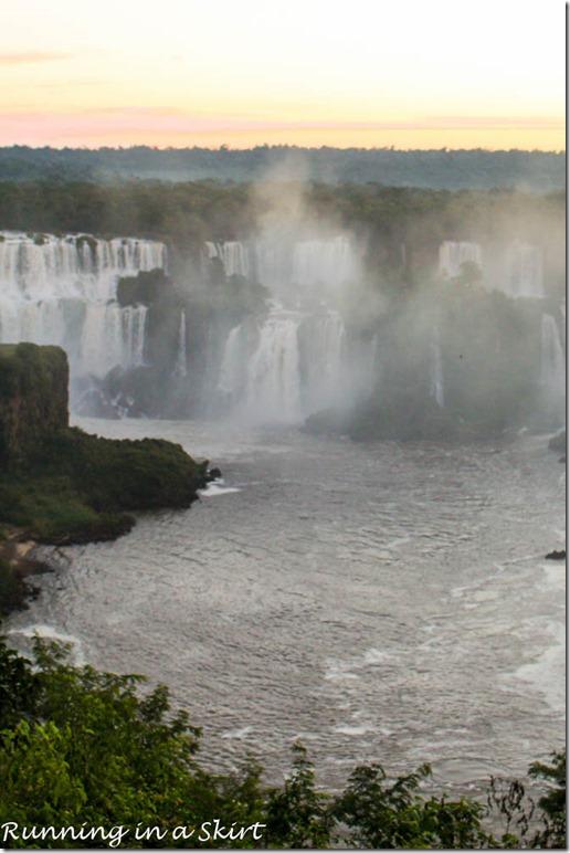 Iguazu Falls- Sunset Brazil Side