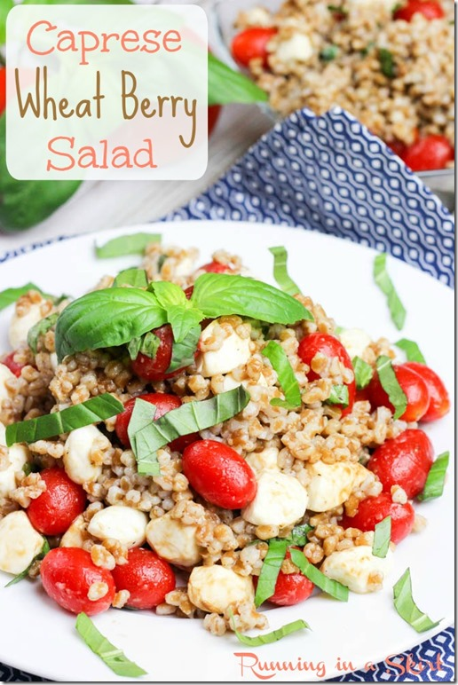 Caprese Wheat Berry Salad - Wheat Berry is high in protein, low in fat ...