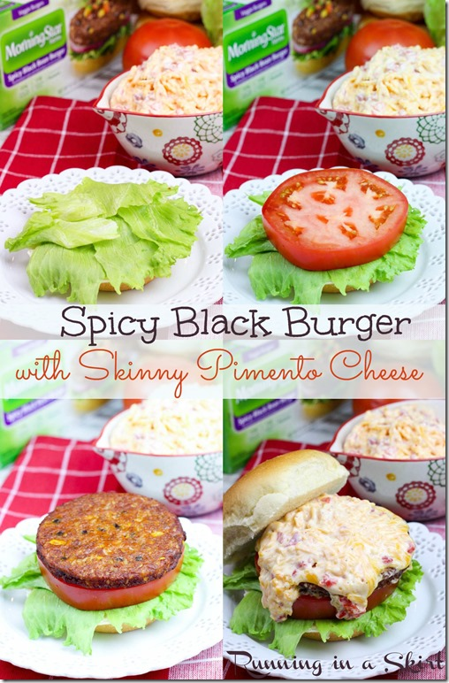 Spicy Black Bean Burger with Homemade Pimento Cheese