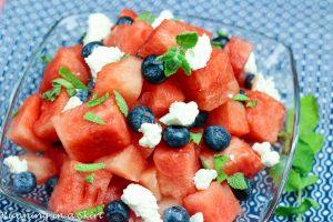 Watermelon Feta Blueberry Salad recipe