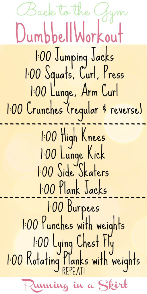 Back to the Gym Dumbbell Workout