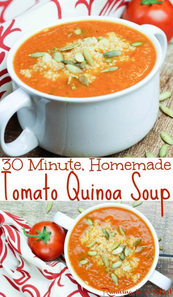 30 Minute Tomato Quinoa Soup