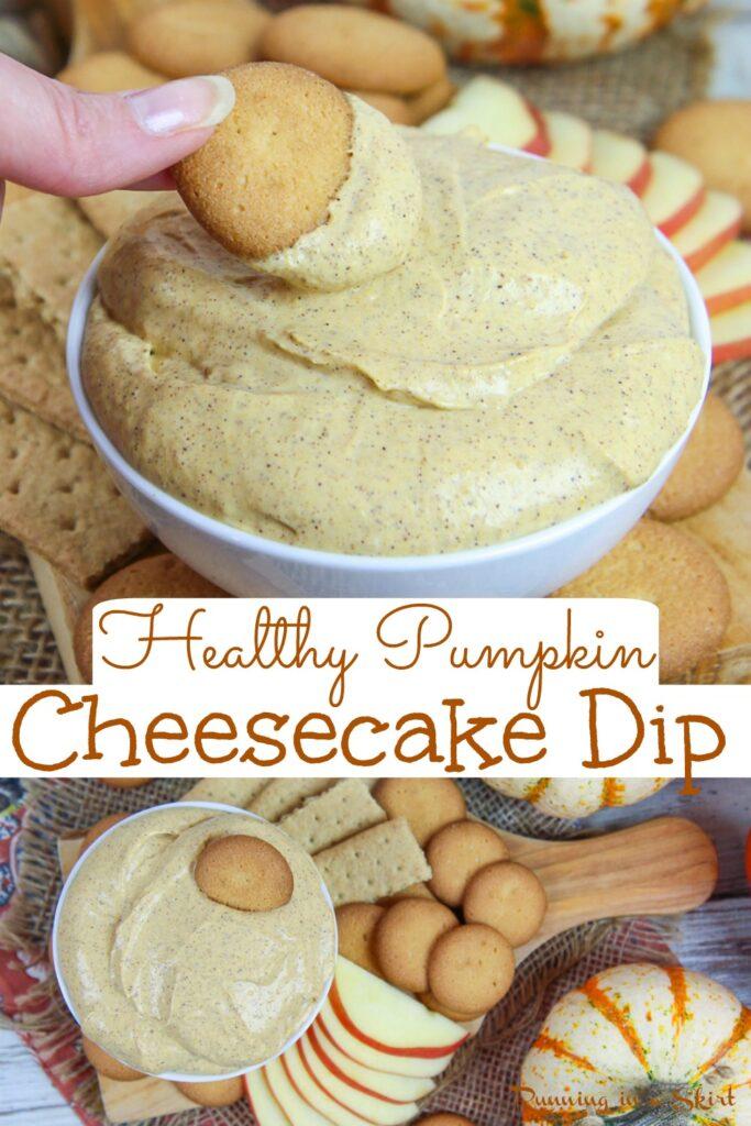 Healthy Pumpkin Cheesecake Dip pinterest pin
