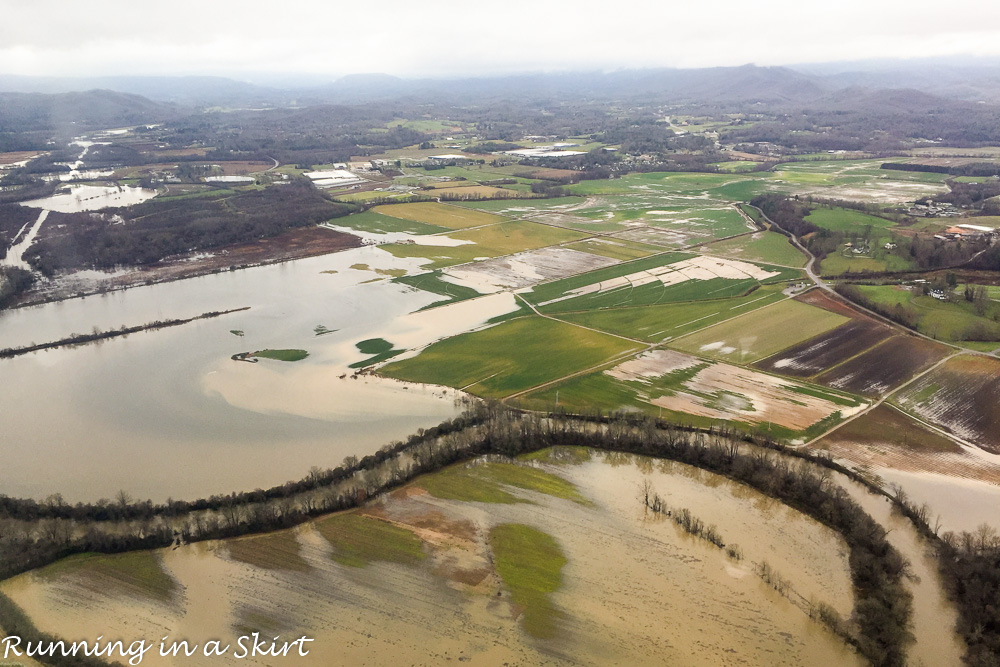Christmas Weekend 2015-flooding from plane