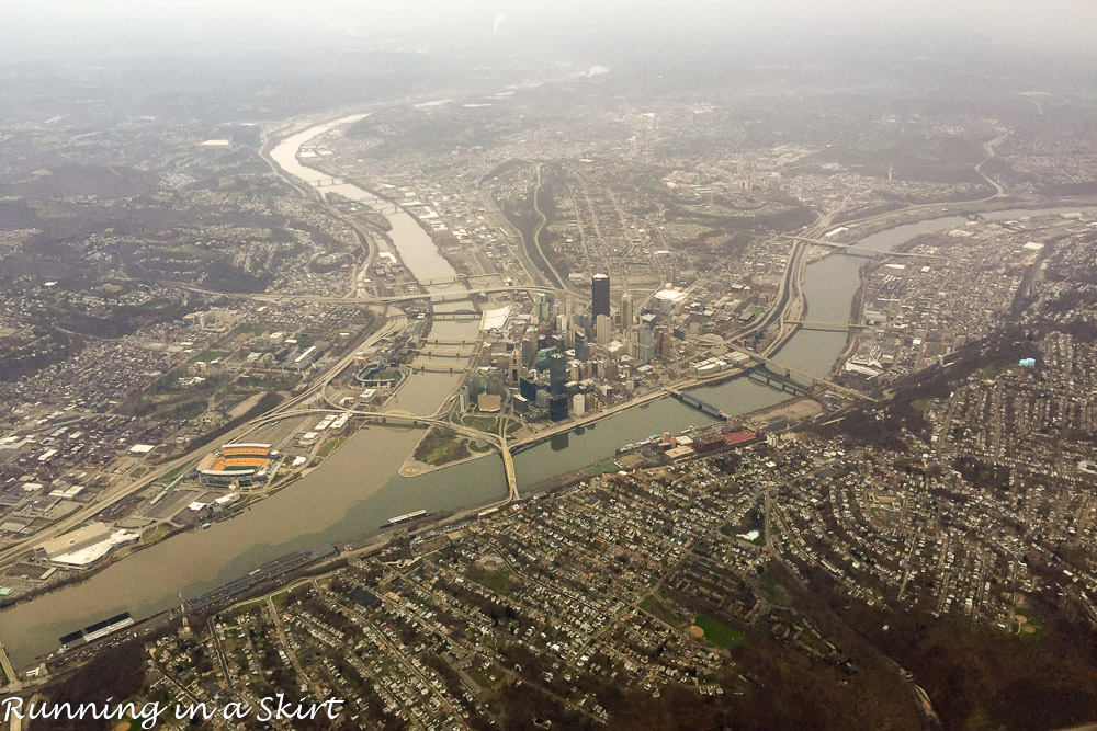 Christmas Weekend 2015-Pittsburgh from air