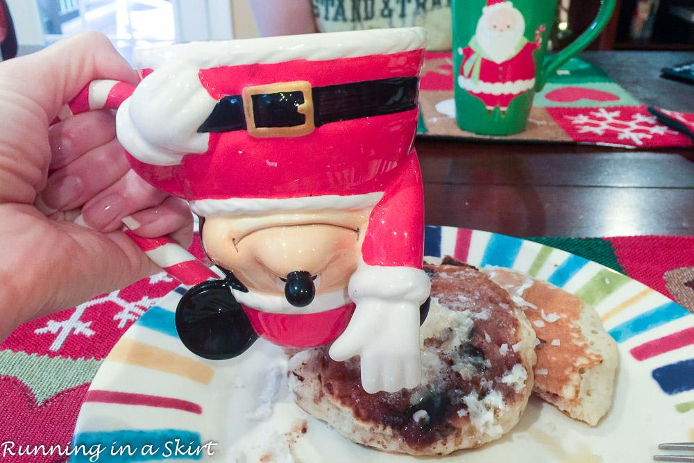 Christmas Weekend 2015- Mickey Mug, pancakes