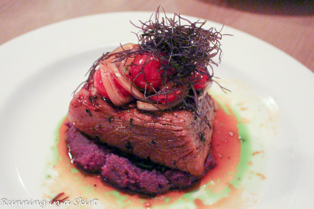 Dinner at Roy's on the Big Island- purple sweet potatoes