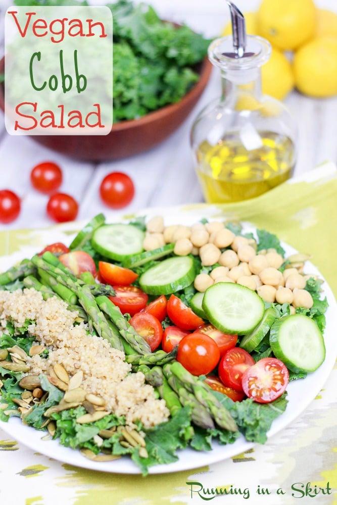 Vegan Cobb Salad - add avocado for creamy goodness! Perfect detox salad! / Running in a Skirt