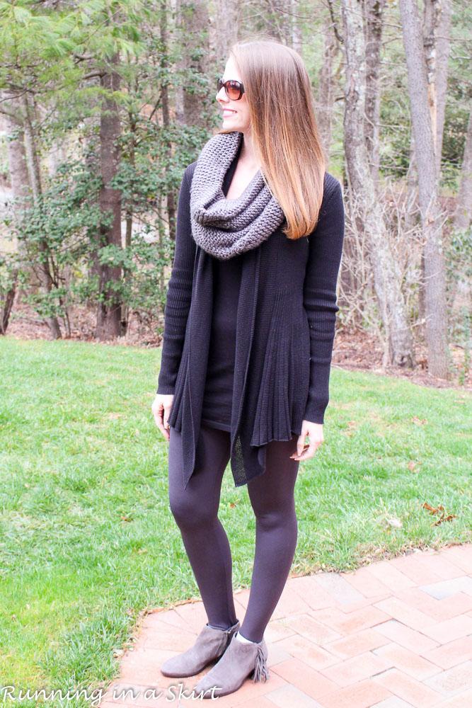 Gray Infinity Scarf & Leggings