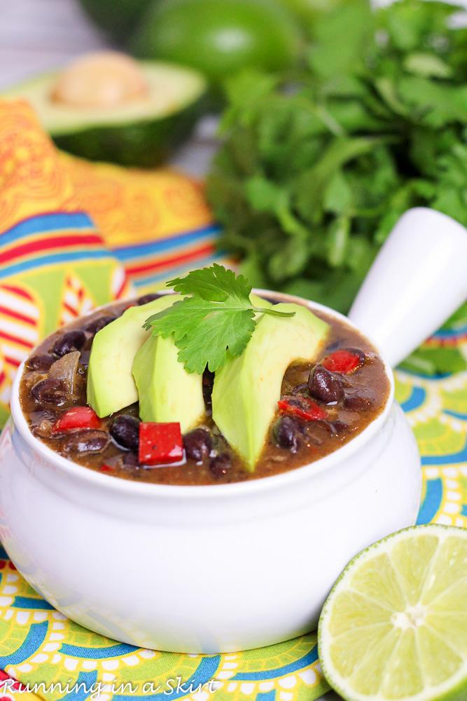 Easy Crock Pot Black Bean Soup recipe slow cooker