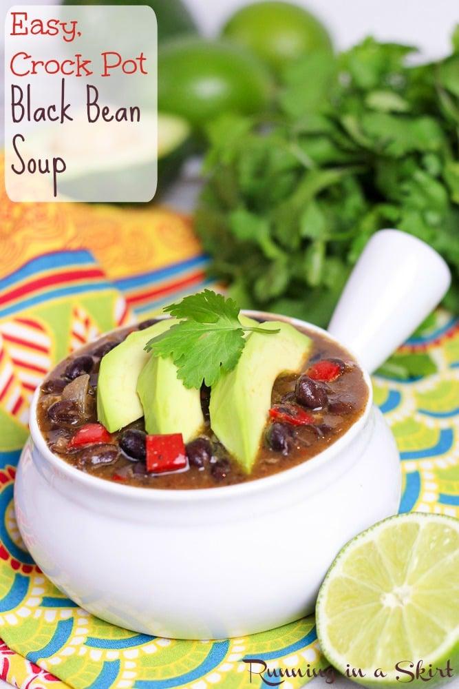 Easy Crock Pot Black Bean Soup