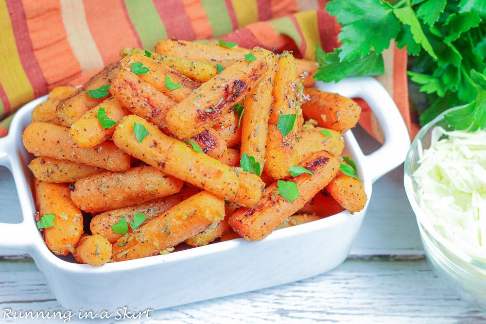 Parmesan Roasted Carrots recipe