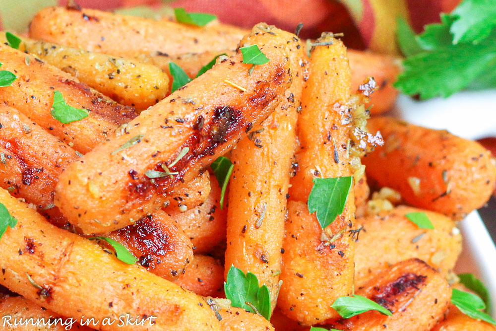 Parsley and garlic with carrots