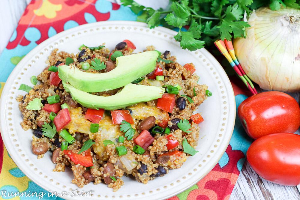 Crock Pot Vegetarian Mexican Quinoa Bake