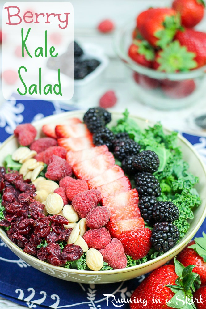 Summer Kale Salad recipe with berries