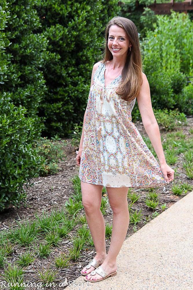 Austin Boho Dress / Running in a Skirt