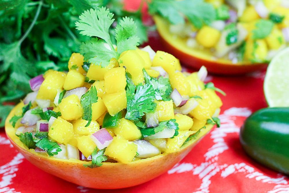 Fresh Mango Salsa & The Best Way to Peel a Mango Video