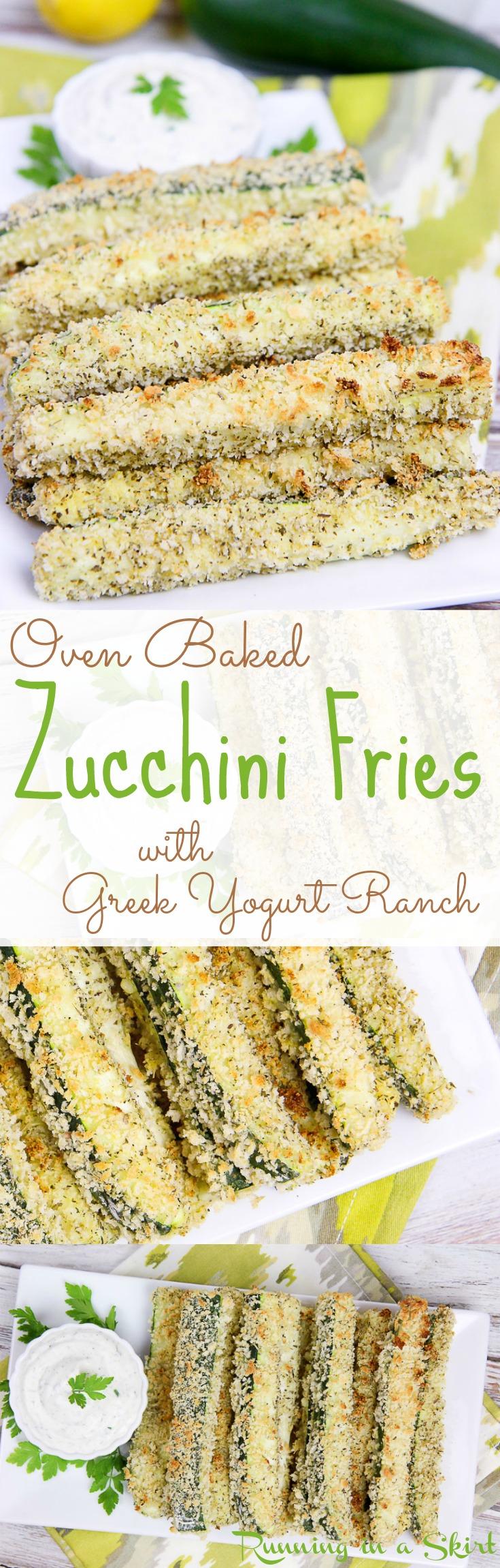 ed Zucchini Fries with greek yogurt ranch