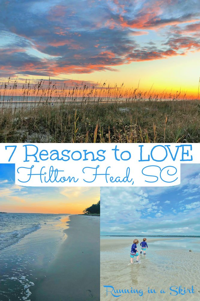 7 Reasons to Love Hilton Head Island South Carolina - 7 things to do on the island for kids, families, and couples. Includes HHI restaurants and the best food. You will love the beach and sunsets on this bucket list gorgeous island vacation in SC. Also includes the best hotels and resorts! / Running in a Skirt #travel #travelblogger #beachtravel #bucketlist #hiltonhead #sctravel #hhi #sc via @juliewunder