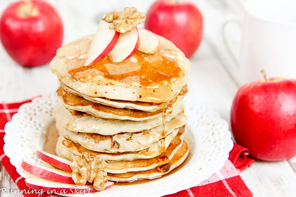 Apple Pie Greek Yogurt Pancakes Healthy-38-4