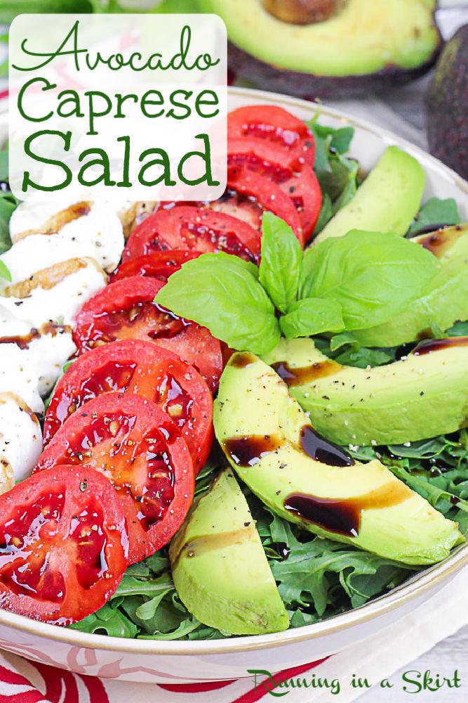 Avocado Caprese Salad Pinterest Pin