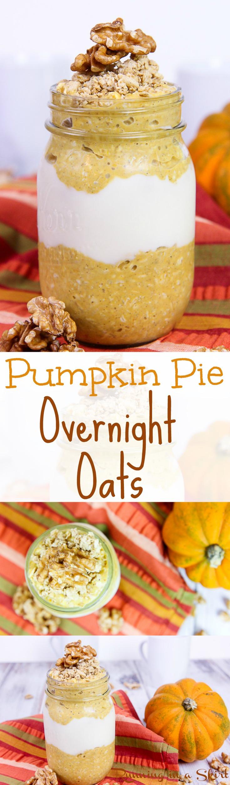 Healthy Pumpkin Pie Overnight Oats