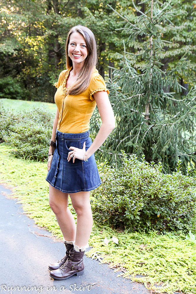fashion friday lace up ankle boots denim skirts