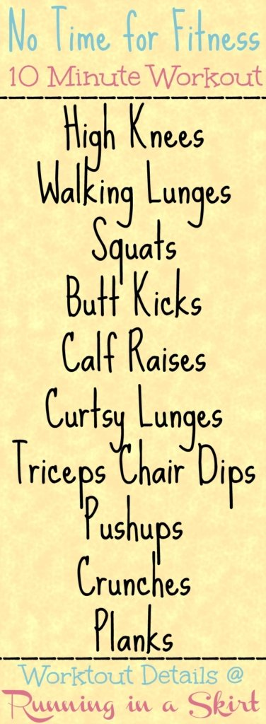 No Time For Fitness Home Workout